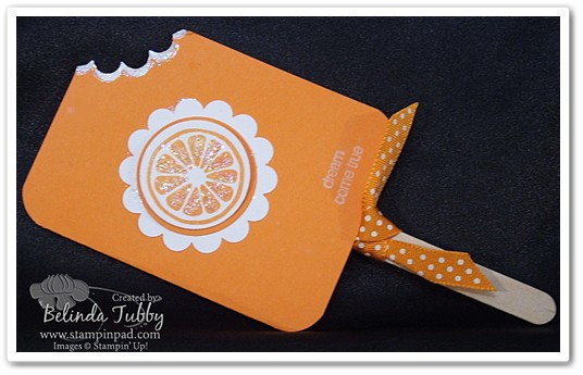 Dreamsicle card