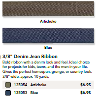 denim ribbon